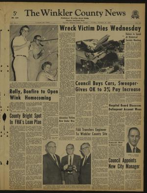 Primary view of object titled 'The Winkler County News (Kermit, Tex.), Vol. 29, No. 1, Ed. 1 Friday, October 16, 1964'.