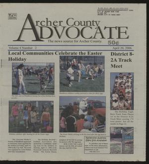 Primary view of object titled 'Archer County Advocate (Holliday, Tex.), Vol. 4, No. 2, Ed. 1 Thursday, April 20, 2006'.