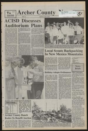 Primary view of object titled 'Archer County News (Archer City, Tex.), No. 29, Ed. 1 Thursday, July 18, 1991'.