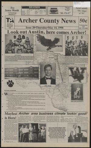 Primary view of object titled 'Archer County News (Archer City, Tex.), No. 20, Ed. 1 Thursday, May 14, 1998'.