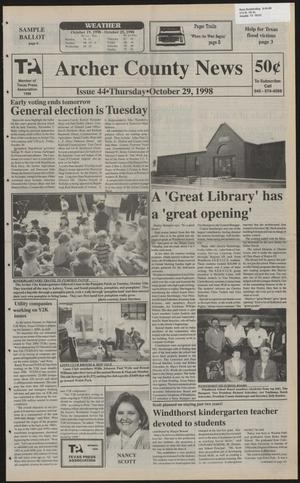 Primary view of Archer County News (Archer City, Tex.), No. 44, Ed. 1 Thursday, October 29, 1998