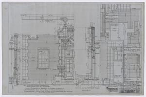 Primary view of object titled 'High School Building, Fort Stockton, Texas: Detailed Elevation Plans'.