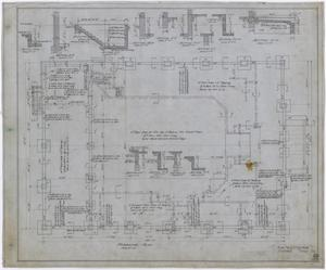Primary view of object titled 'City Auditorium, Stamford, Texas: Foundation Plan'.
