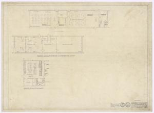 Primary view of object titled 'School Buildings, Eldorado, Texas: Kitchen and Science Floor Plan'.