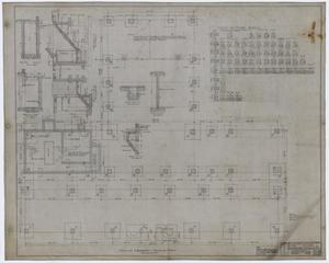 Primary view of object titled 'Eastland High School, Eastland, Texas: Footing and Basement Framing Plan'.