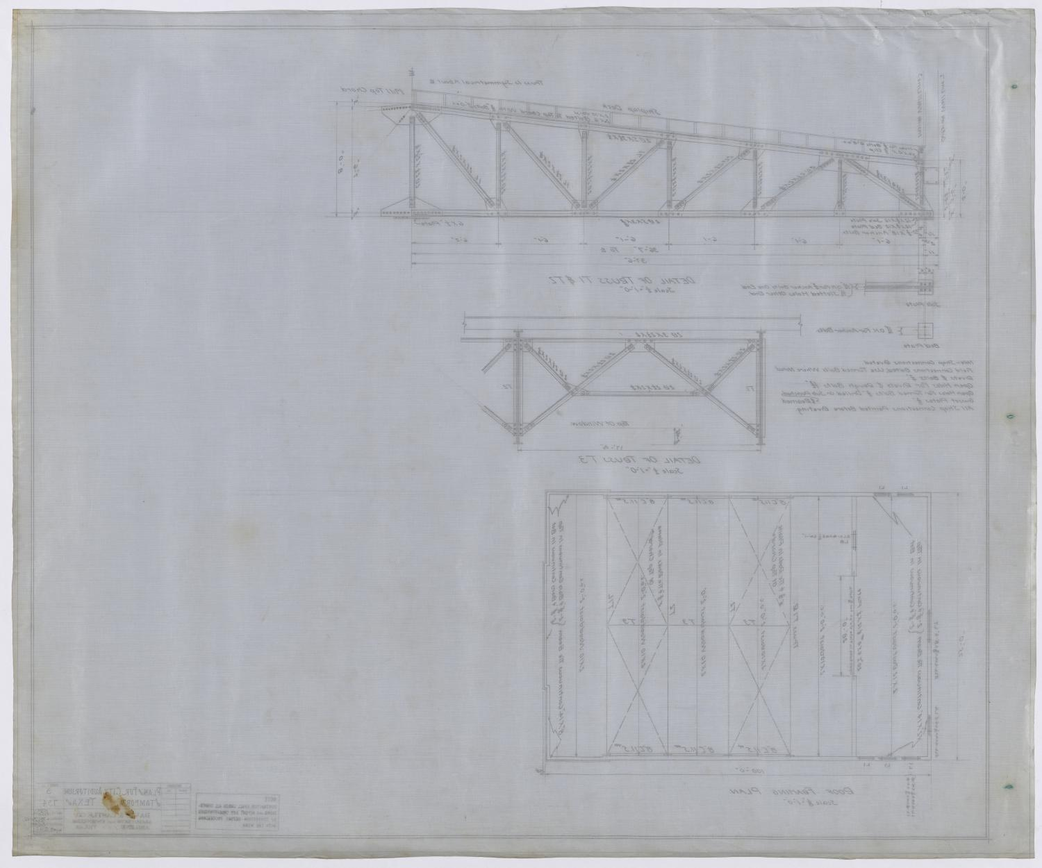 City Auditorium, Stamford, Texas: Framing Plan                                                                                                      [Sequence #]: 2 of 2