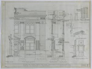 Primary view of object titled 'Stamford City Hall and Fire Station: Front Elevation'.