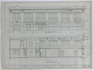 Primary view of object titled 'Stamford City Hall and Fire Station: Left Side Elevation'.