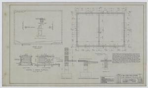 Primary view of object titled 'Fire Station, Merkel, Texas: Roof Plan and Details'.