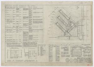 Primary view of object titled 'Elementary School Building, Fort Stockton, Texas: Details and Plot Plan'.