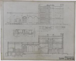 Primary view of object titled 'Eastland High School, Eastland, Texas: Elevation and Section Drawings'.