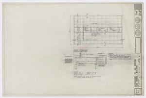 Primary view of object titled 'High School Building Alterations, Fort Stockton, Texas: Roof Framing Plan [Proof]'.