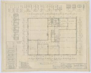 Primary view of object titled 'Hamlin City Hall: Second Floor Plan'.
