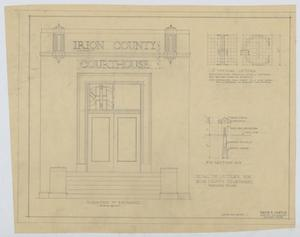 Primary view of object titled 'Irion County Courthouse: Elevation of Entrance, Building Front'.