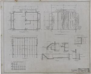 Primary view of object titled 'Eastland High School, Eastland, Texas: Foundation Plan and Framing Plans'.
