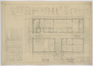 Primary view of object titled 'Irion County Courthouse: General Construction Plans, First Floor'.