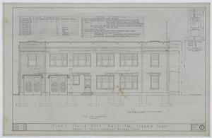 Primary view of object titled 'Strawn City Hall: Last Side Elevation'.