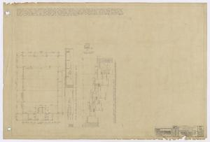 Primary view of object titled 'High School Building, Fort Stockton, Texas: Revised Projection Booth Beam Plan'.
