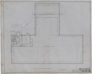 Primary view of object titled 'Eastland High School, Eastland, Texas: Basement Mechanical Plan'.