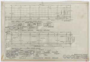 Primary view of object titled 'Elementary School Building, Fort Stockton, Texas: Classroom Wing Foundation and Roof Framing Plans'.