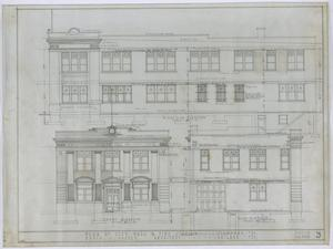 Primary view of object titled 'Stamford City Hall and Fire Station: Elevation'.