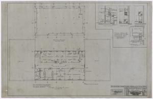 Primary view of object titled 'High School Building, Fort Stockton, Texas: Third Floor and Attic Mechanical Plan'.