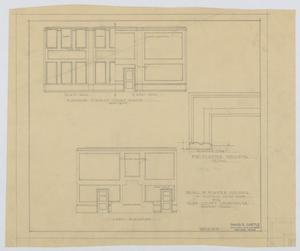 Primary view of object titled 'Irion County Courthouse: Elevation, District Court Room'.