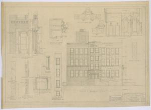 Primary view of object titled 'Irion County Courthouse: General Construction Plans, South End Elevation'.