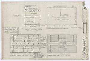 Primary view of object titled 'High School Building Alterations, Fort Stockton, Texas: Roof Plan, Third Floor Lighting Plan, and Ceiling Plan [Proof]'.