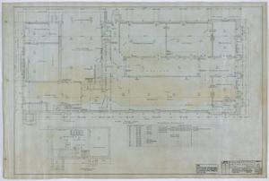 Primary view of object titled 'Olney City Hall and Fire Station: Plans for a City Hall and Fire Station, First Floor'.
