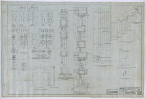 Primary view of object titled 'Olney City Hall and Fire Station: Door Diagram'.
