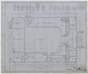 Primary view of object titled 'City Auditorium, Stamford, Texas: Ground Floor Plan'.