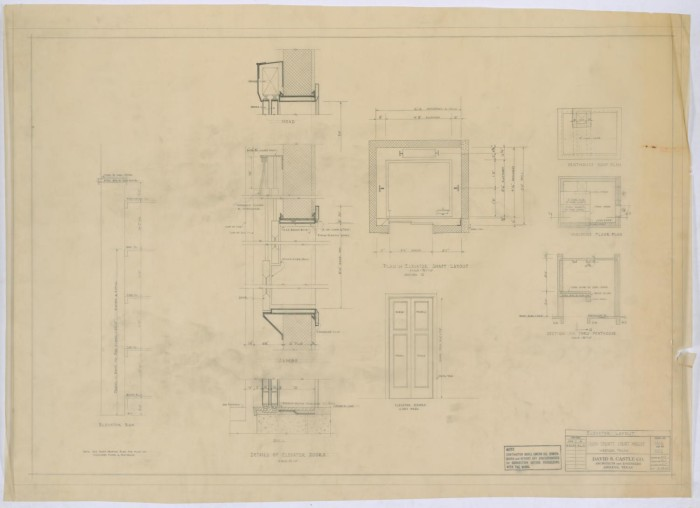 Irion county courthouse elevator layout the portal to texas history primary view of object titled irion county courthouse elevator layout malvernweather Gallery