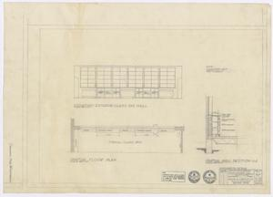 Primary view of object titled 'School Buildings, Eldorado, Texas: Partial Floor Plan'.