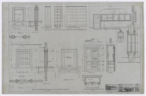 Primary view of object titled 'High School Building, Fort Stockton, Texas: Library Detail Plan'.