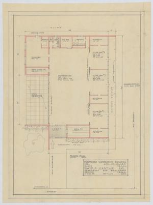 Primary view of object titled 'Community Building Proposal, Olney, Texas: Floor Plan'.