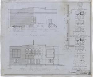 Primary view of object titled 'City Auditorium, Stamford, Texas: Elevations and Details'.