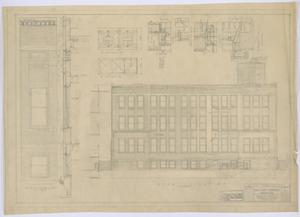Primary view of object titled 'Irion County Courthouse: General Construction Plans, Rear Elevation'.