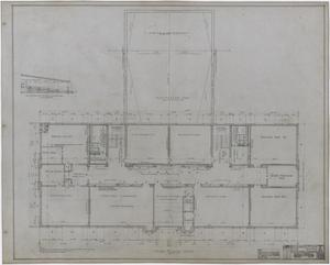 Primary view of object titled 'Eastland High School, Eastland, Texas: Third Floor Plan'.