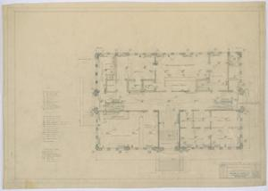 Primary view of object titled 'Irion County Courthouse: Plumbing, Heating, and Electrical, First Floor'.
