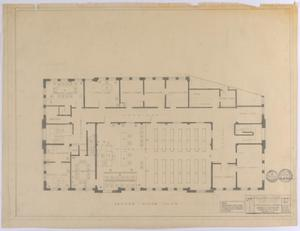Primary view of object titled 'Sterling County Courthouse: Second Floor'.