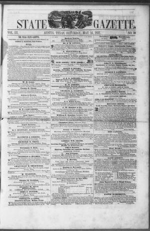Primary view of object titled 'Texas State Gazette. (Austin, Tex.), Vol. 3, No. 39, Ed. 1, Saturday, May 15, 1852'.