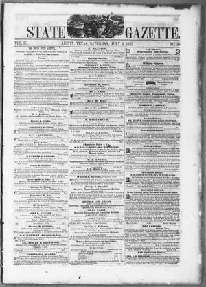 Primary view of object titled 'Texas State Gazette. (Austin, Tex.), Vol. 3, No. 46, Ed. 1, Saturday, July 3, 1852'.
