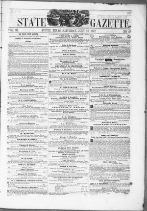 Primary view of object titled 'Texas State Gazette. (Austin, Tex.), Vol. 3, No. 49, Ed. 1, Saturday, July 24, 1852'.
