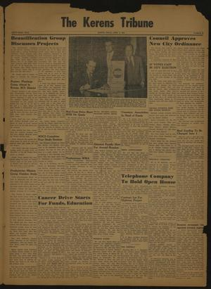 Primary view of object titled 'The Kerens Tribune (Kerens, Tex.), Vol. 63, No. 14, Ed. 1 Friday, April 6, 1956'.