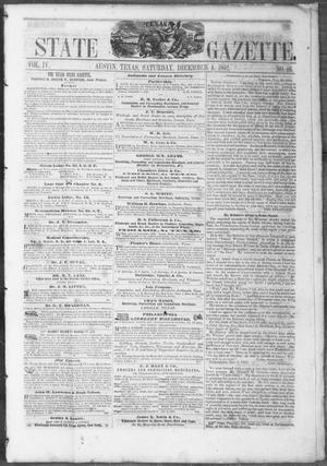 Primary view of object titled 'Texas State Gazette. (Austin, Tex.), Vol. 4, No. 16, Ed. 1, Saturday, December 4, 1852'.