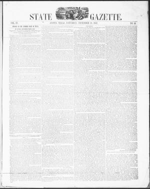 Primary view of object titled 'Texas State Gazette. (Austin, Tex.), Vol. 4, No. 18, Ed. 1, Saturday, December 18, 1852'.