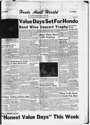 Primary view of object titled 'Hondo Anvil Herald (Hondo, Tex.), Vol. 73, No. 8, Ed. 1 Friday, February 20, 1959'.