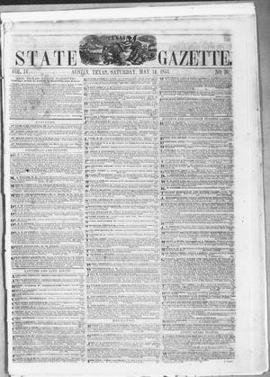 Primary view of object titled 'Texas State Gazette. (Austin, Tex.), Vol. 4, No. 39, Ed. 1, Saturday, May 14, 1853'.