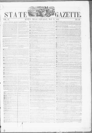 Primary view of Texas State Gazette. (Austin, Tex.), Vol. 4, No. 40, Ed. 1, Saturday, May 21, 1853